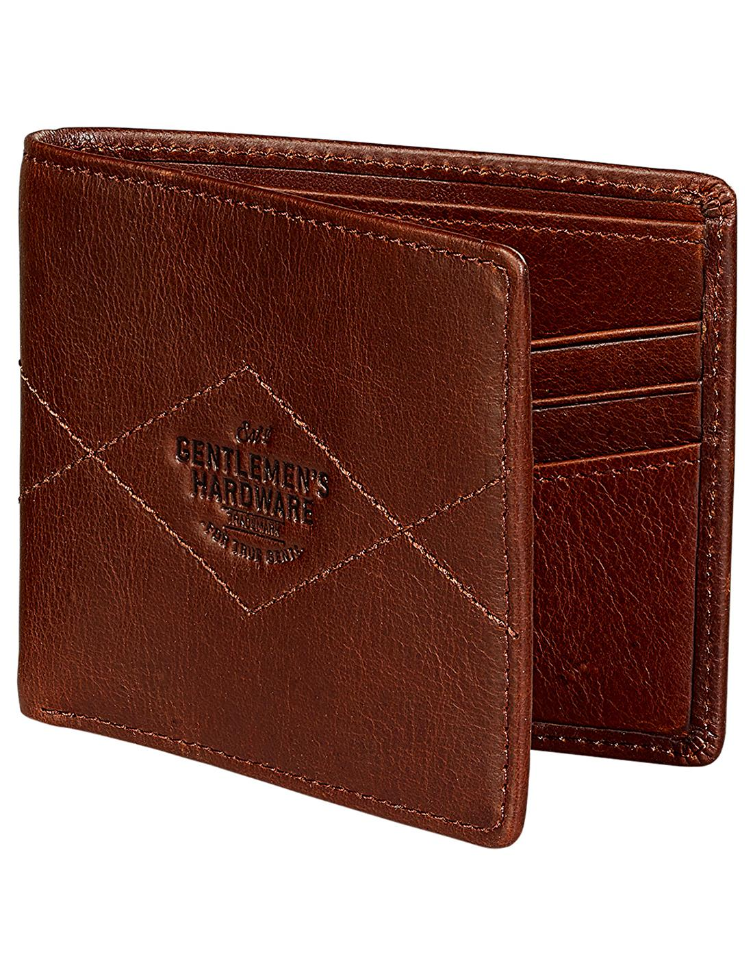 GENTLEMEN'S HARDWARE Retro Bi-Fold Leather Wallet