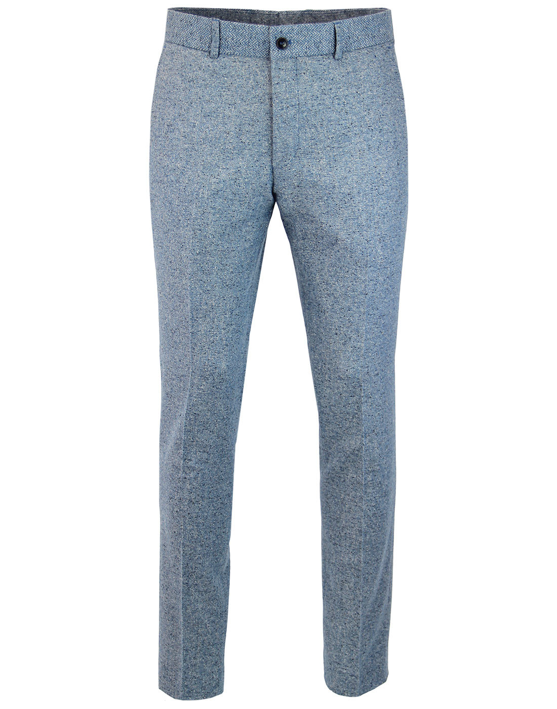 GIBSON LONDON Mod Herringbone Donegal Trousers (B)