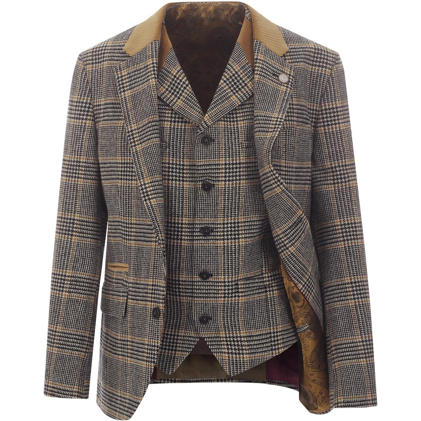 GIBSON LONDON Prince of Wales Blazer & Waistcoat
