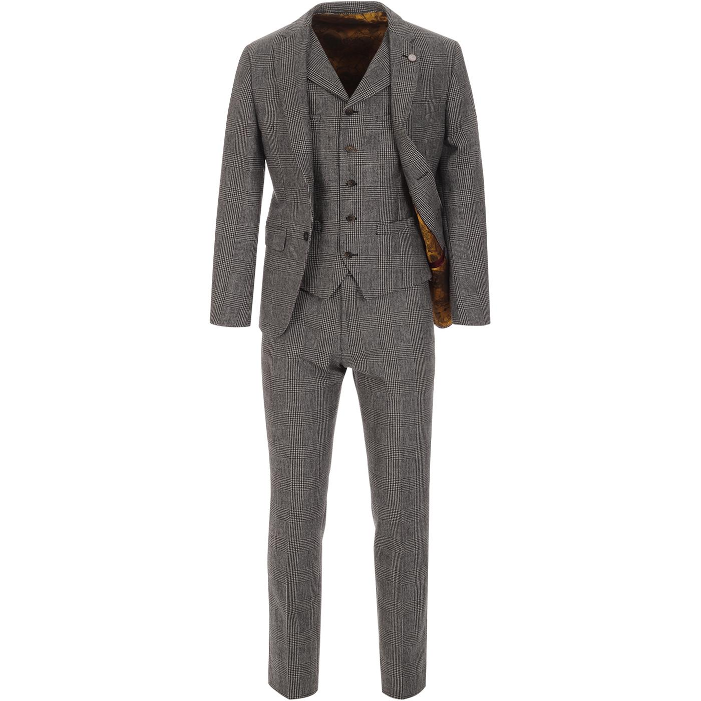 GIBSON LONDON Retro Mod Prince of Wales Suit