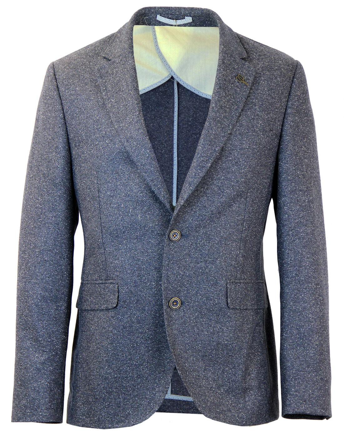GIBSON LONDON 2 Button Donegal Suit Jacket BLUE