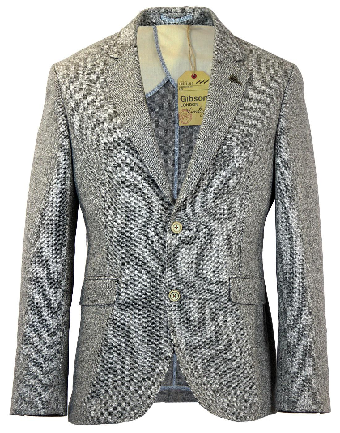 GIBSON LONDON 2 Button Donegal Suit Jacket GREY