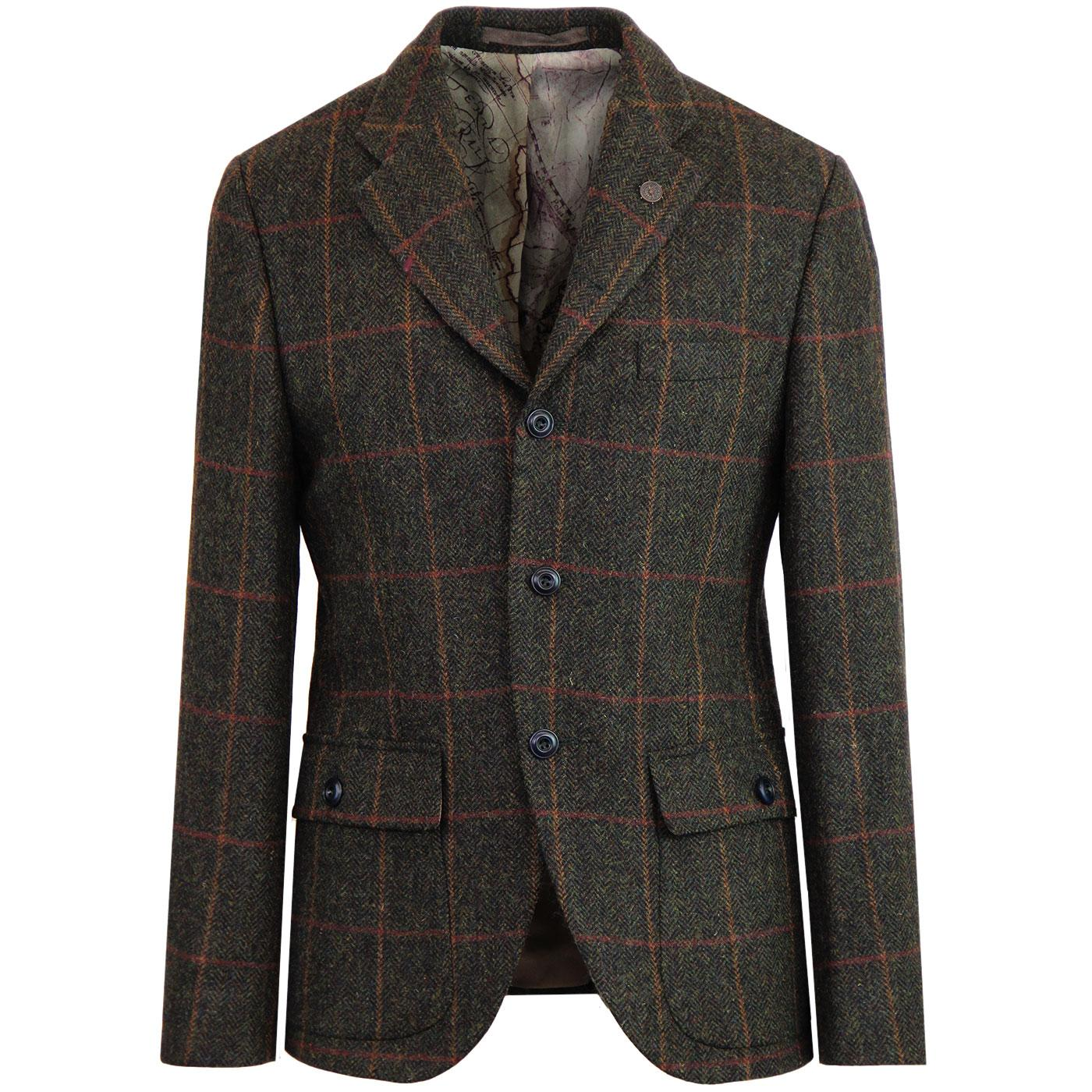 Grouse GIBSON LONDON Herringbone Check Blazer (G)
