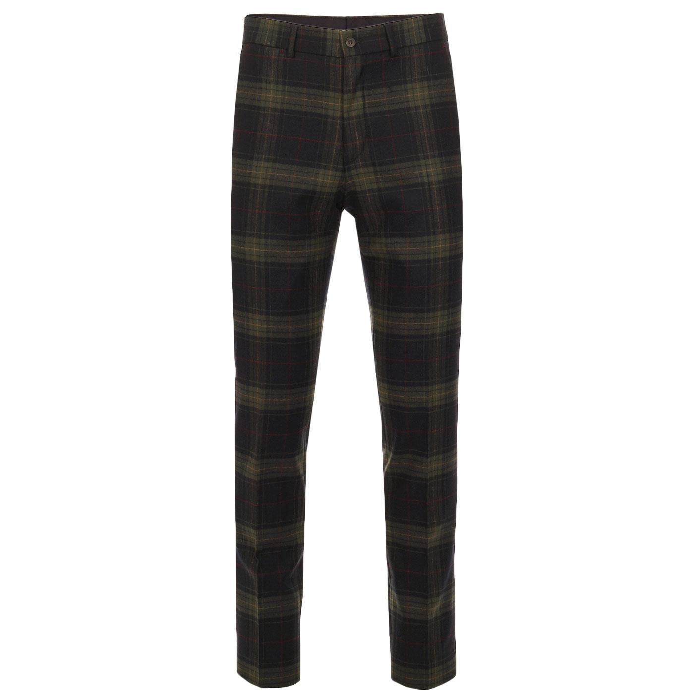 Radisson GIBSON LONDON Mod Tartan Check Trousers