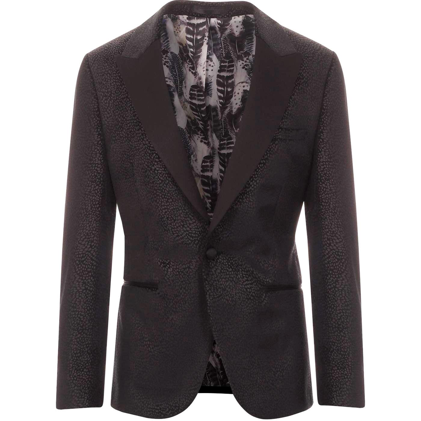 GIBSON LONDON Retro Velvet Jacquard Dinner Jacket
