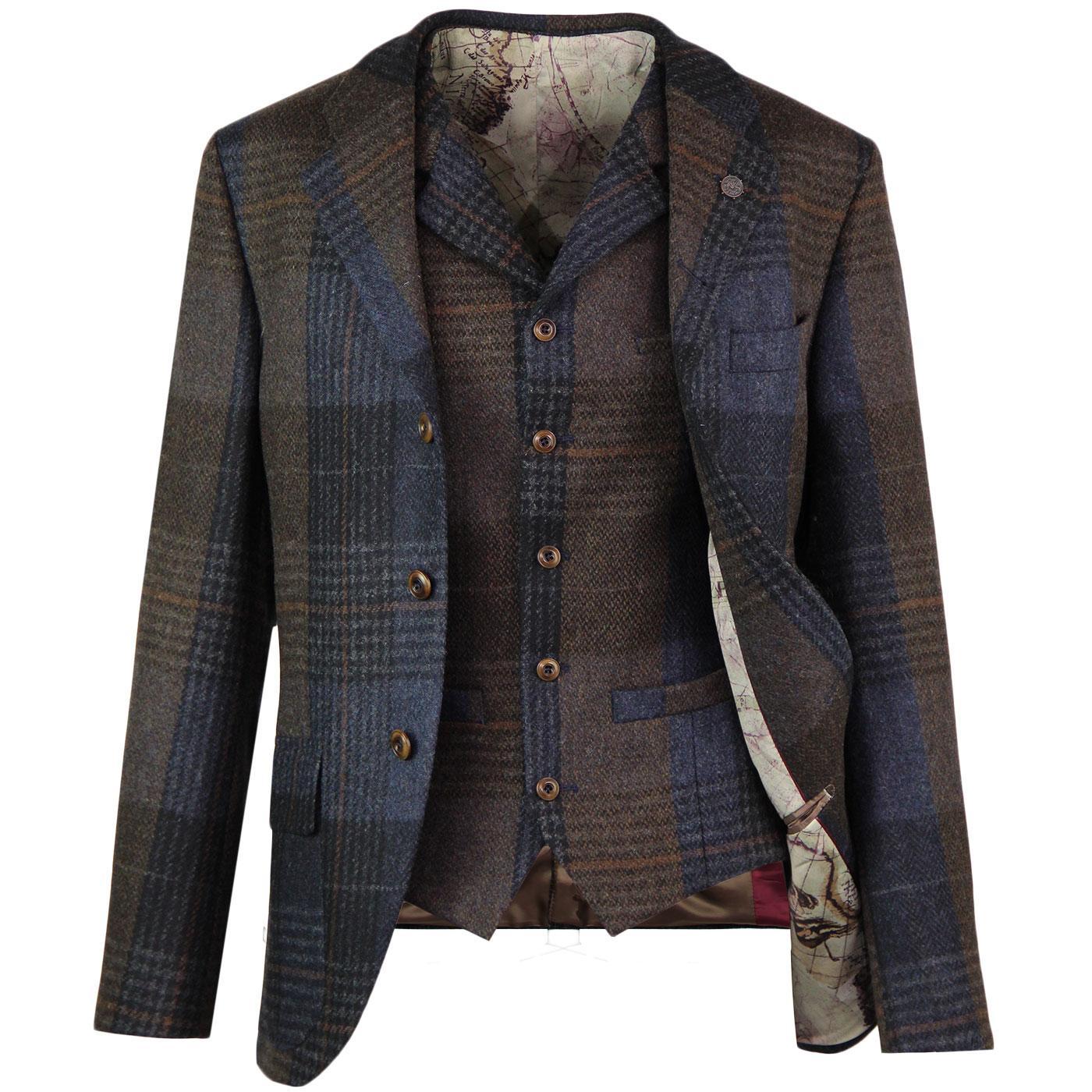 Grouse GIBSON LONDON Mod Check Blazer & Waistcoat