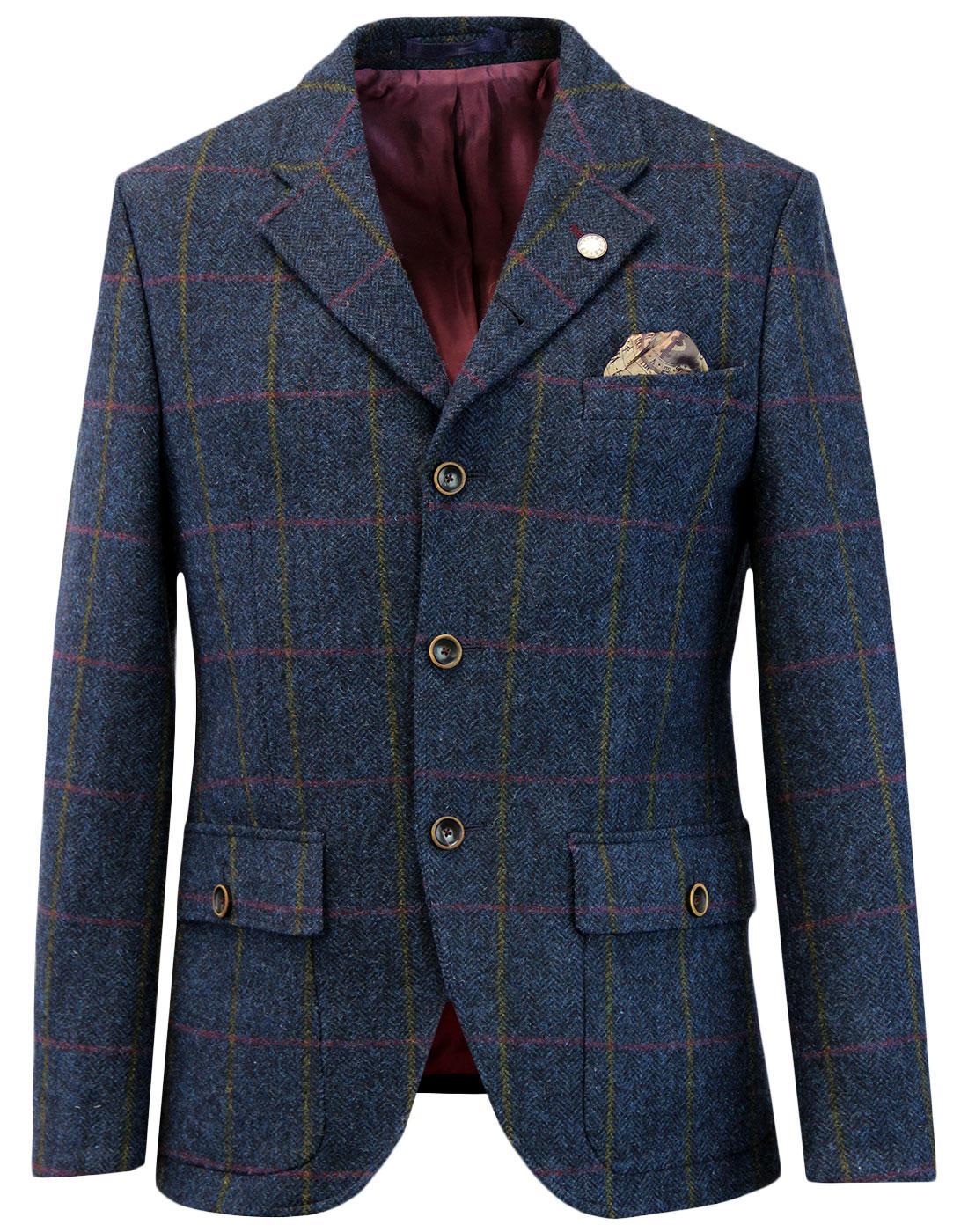 Grouse GIBSON LONDON Herringbone Check Blazer (N)
