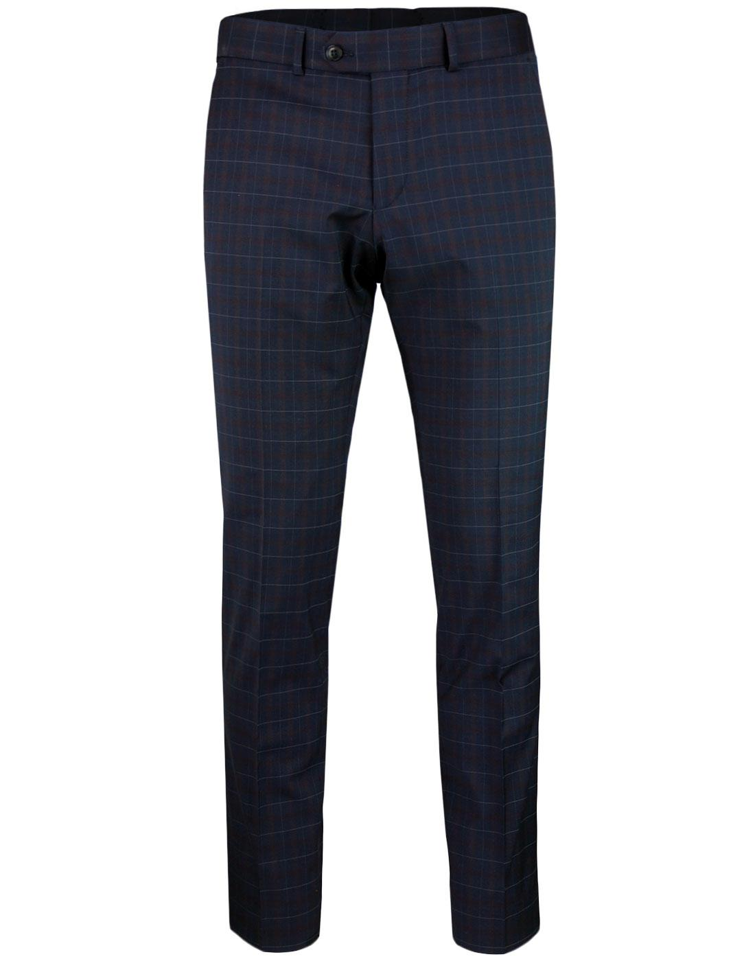 Marriott GIBSON LONDON Mod Tartan Suit Trousers