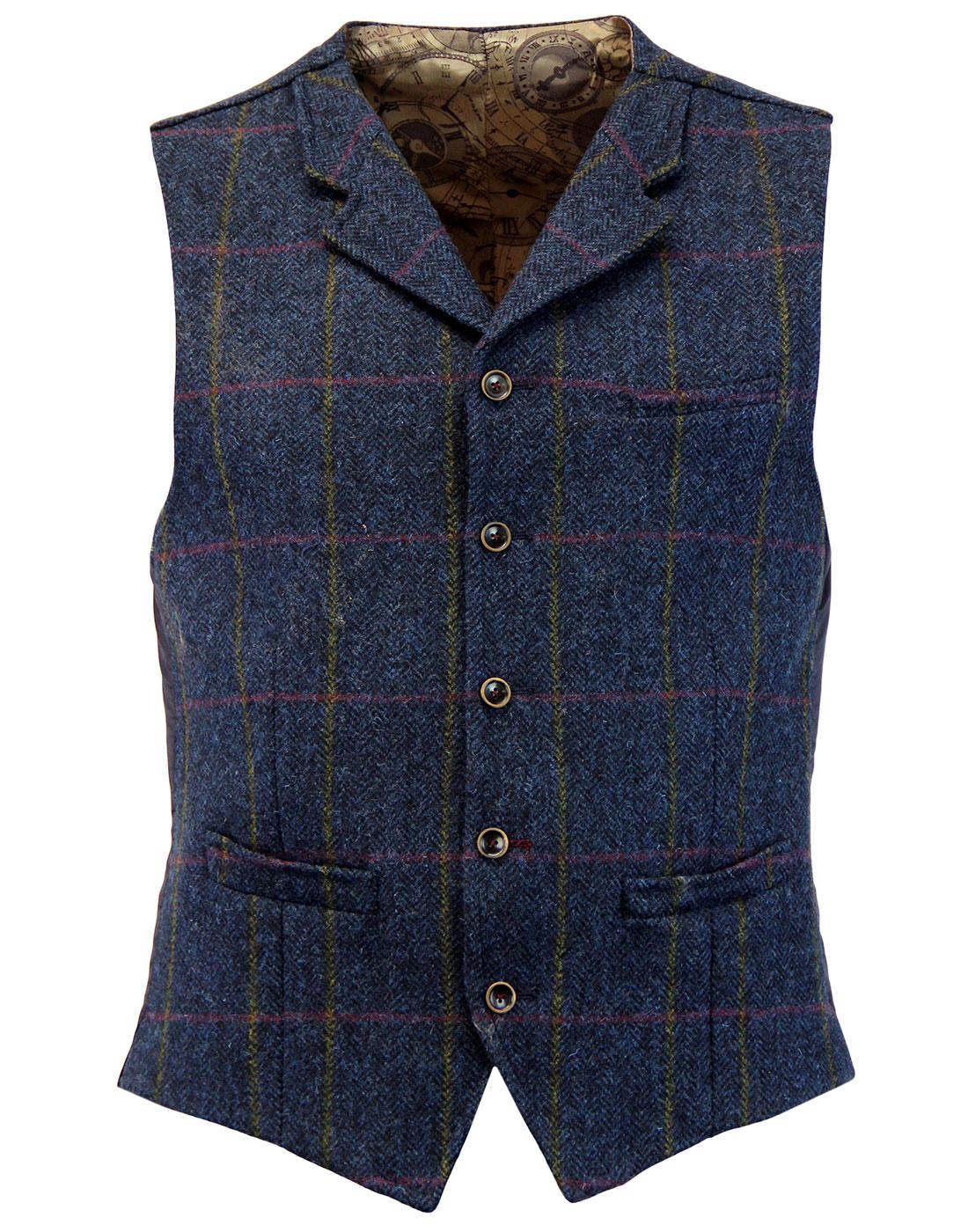 Tyburn GIBSON LONDON Herringbone Check Waistcoat N