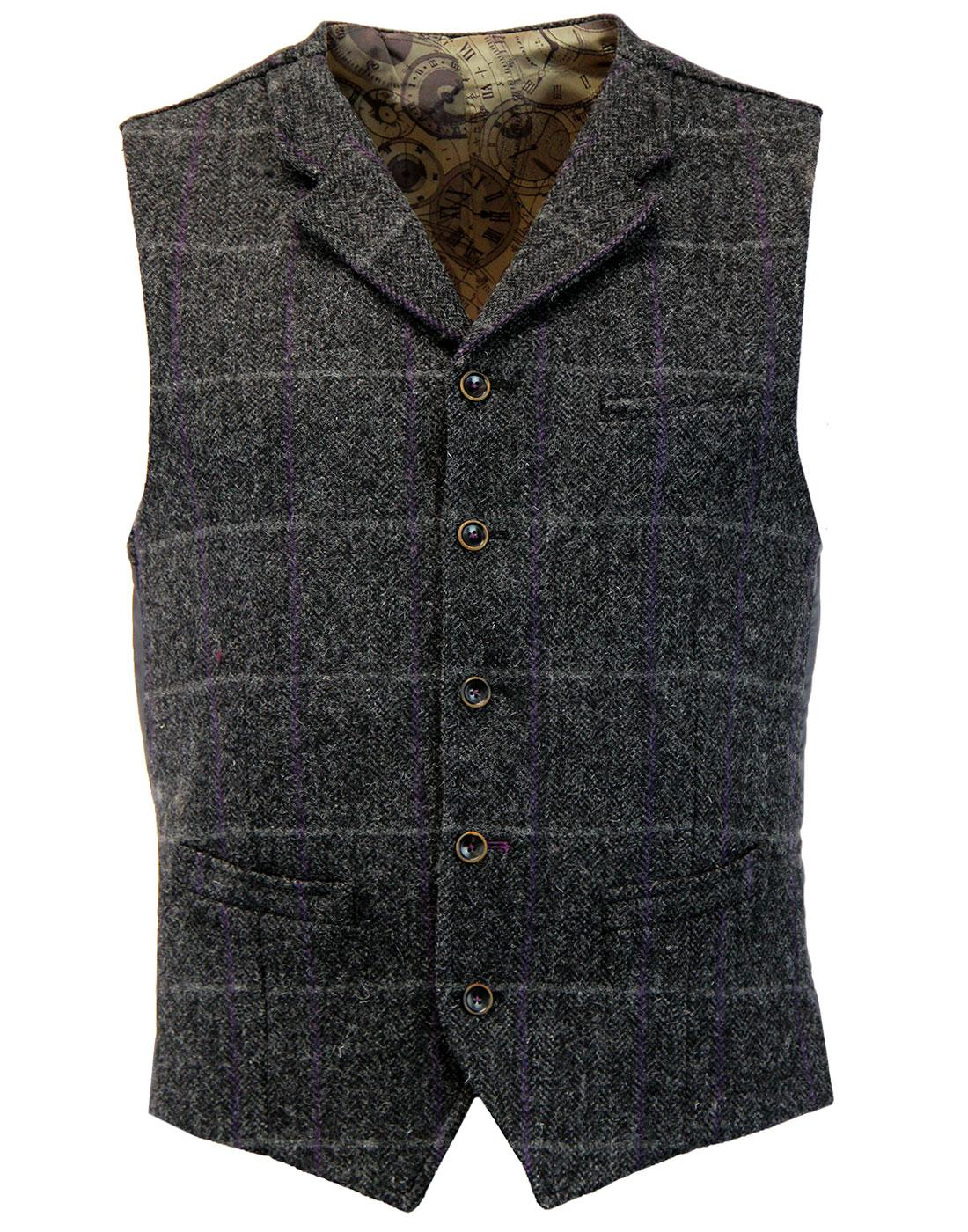 Tyburn GIBSON LONDON Herringbone Check Waistcoat C