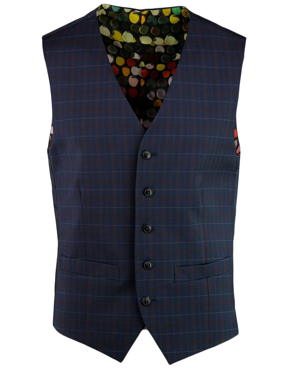 Marriott GIBSON LONDON Mod Tartan V-Neck Waistcoat