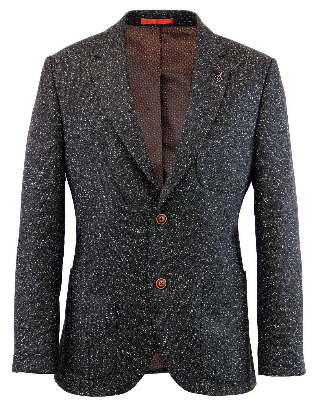 GIBSON LONDON Mod 2 Button Donegal Suit Jacket (C)