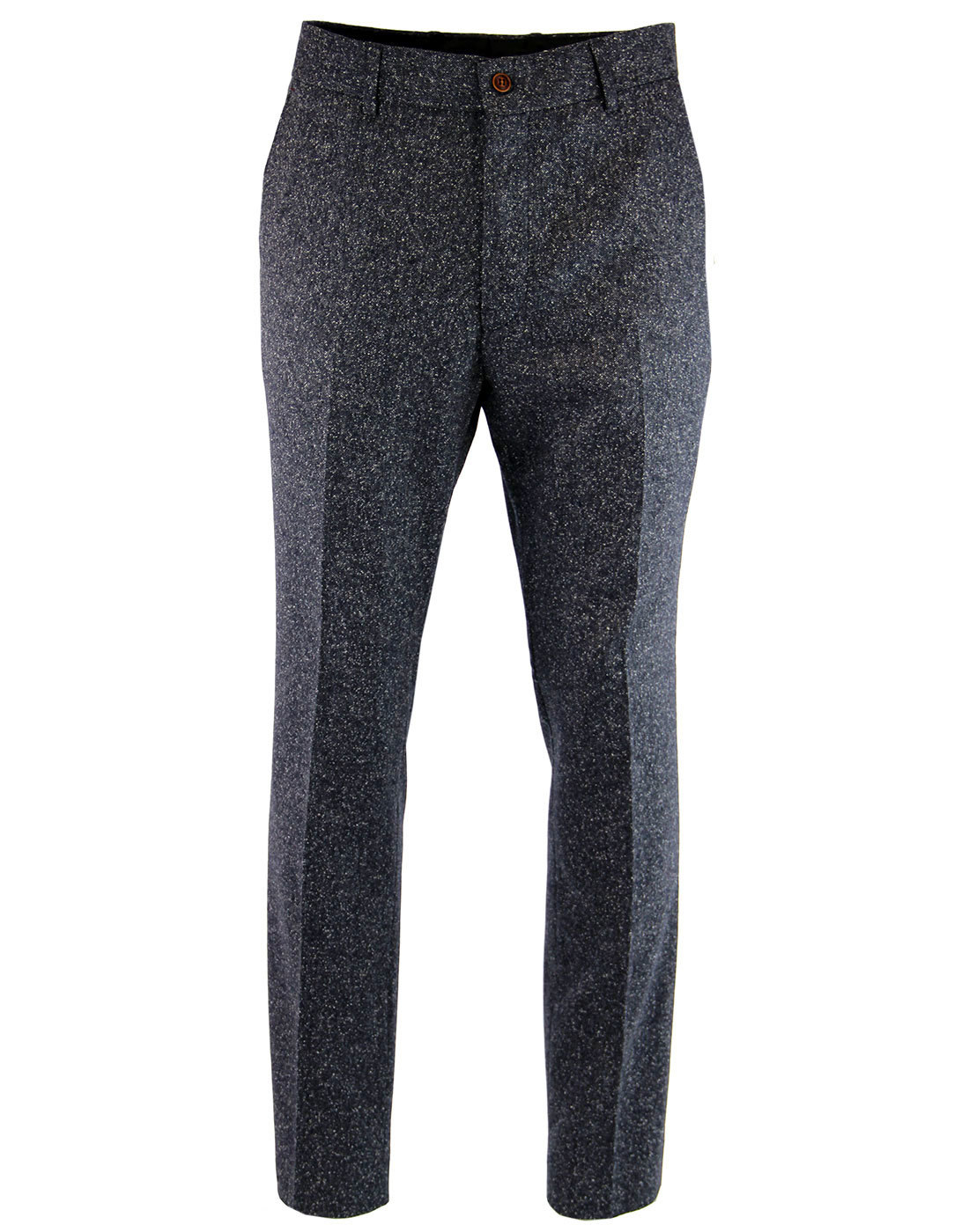 GIBSON LONDON Mod Donegal Flat Front Trousers (D)