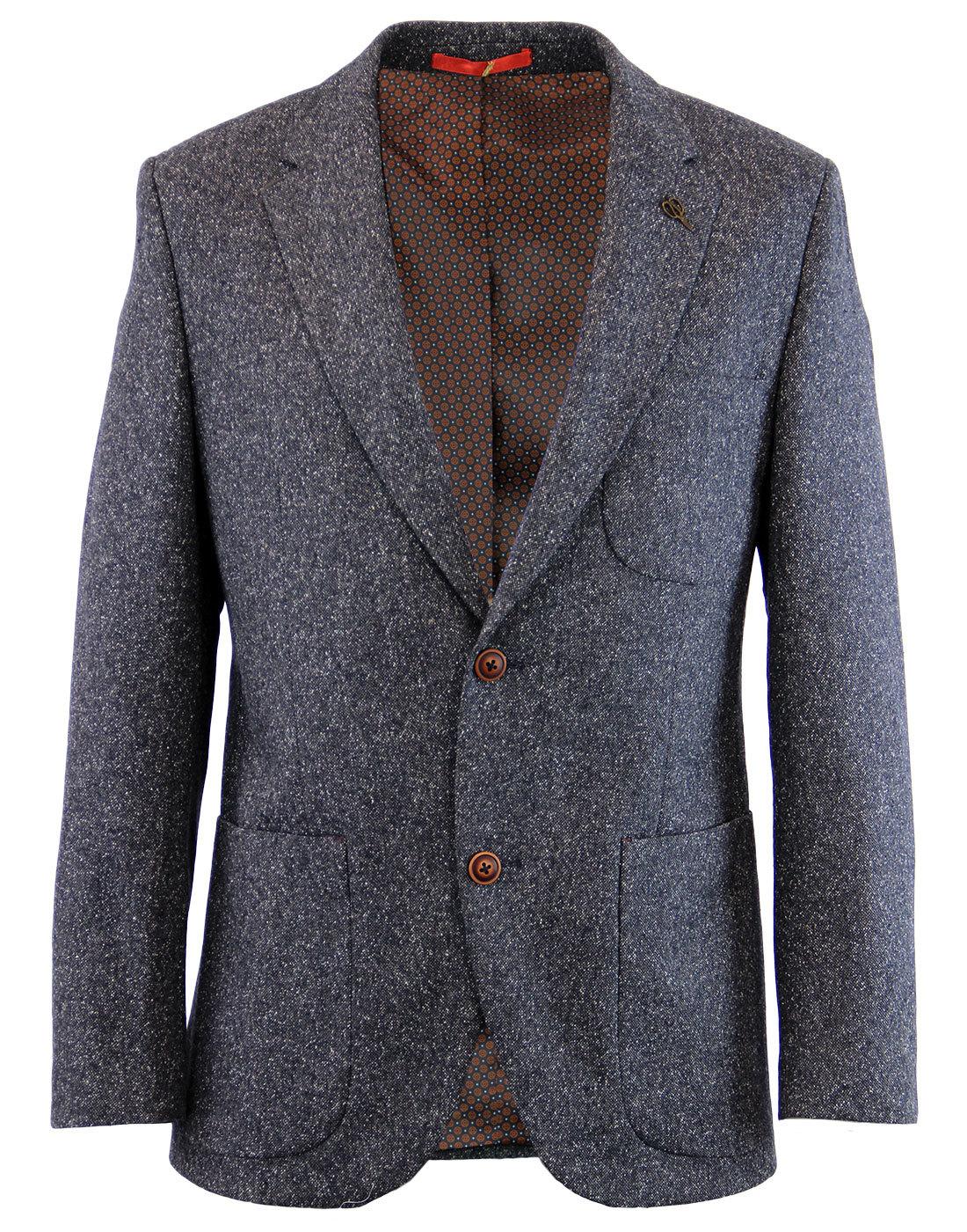 GIBSON LONDON Mod 2 Button Donegal Suit Jacket (D)