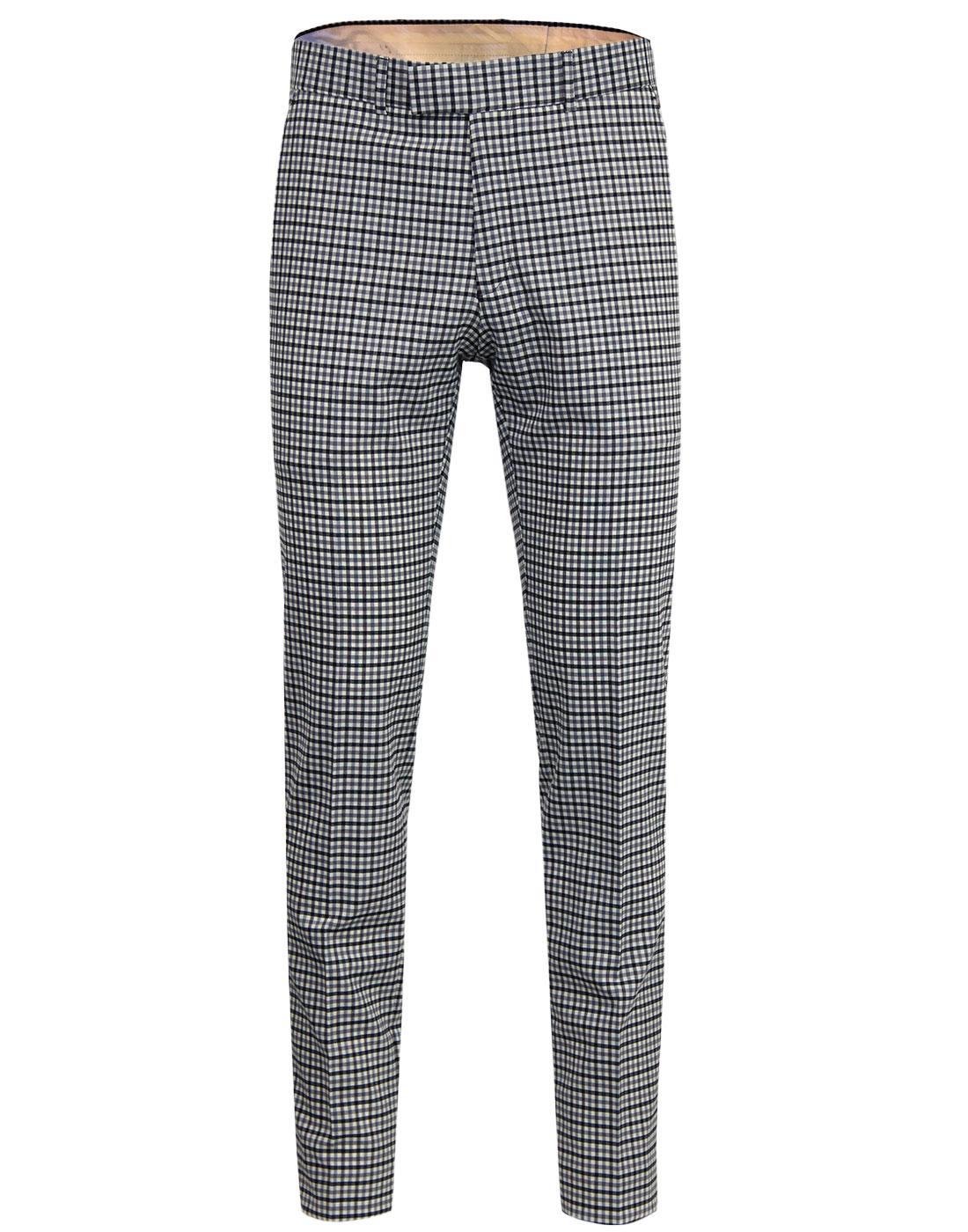 Radisson GIBSON LONDON Mod Gingham Slim Trousers