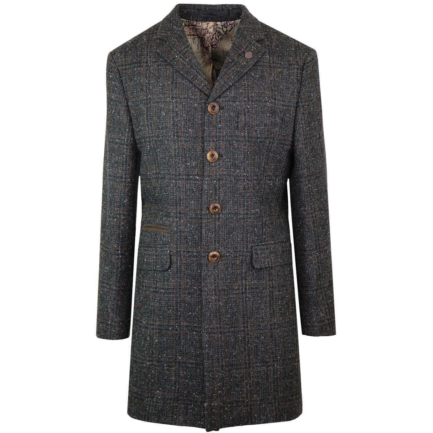 Winnie GIBSON LONDON 60s Mod Glen Check Dress Coat