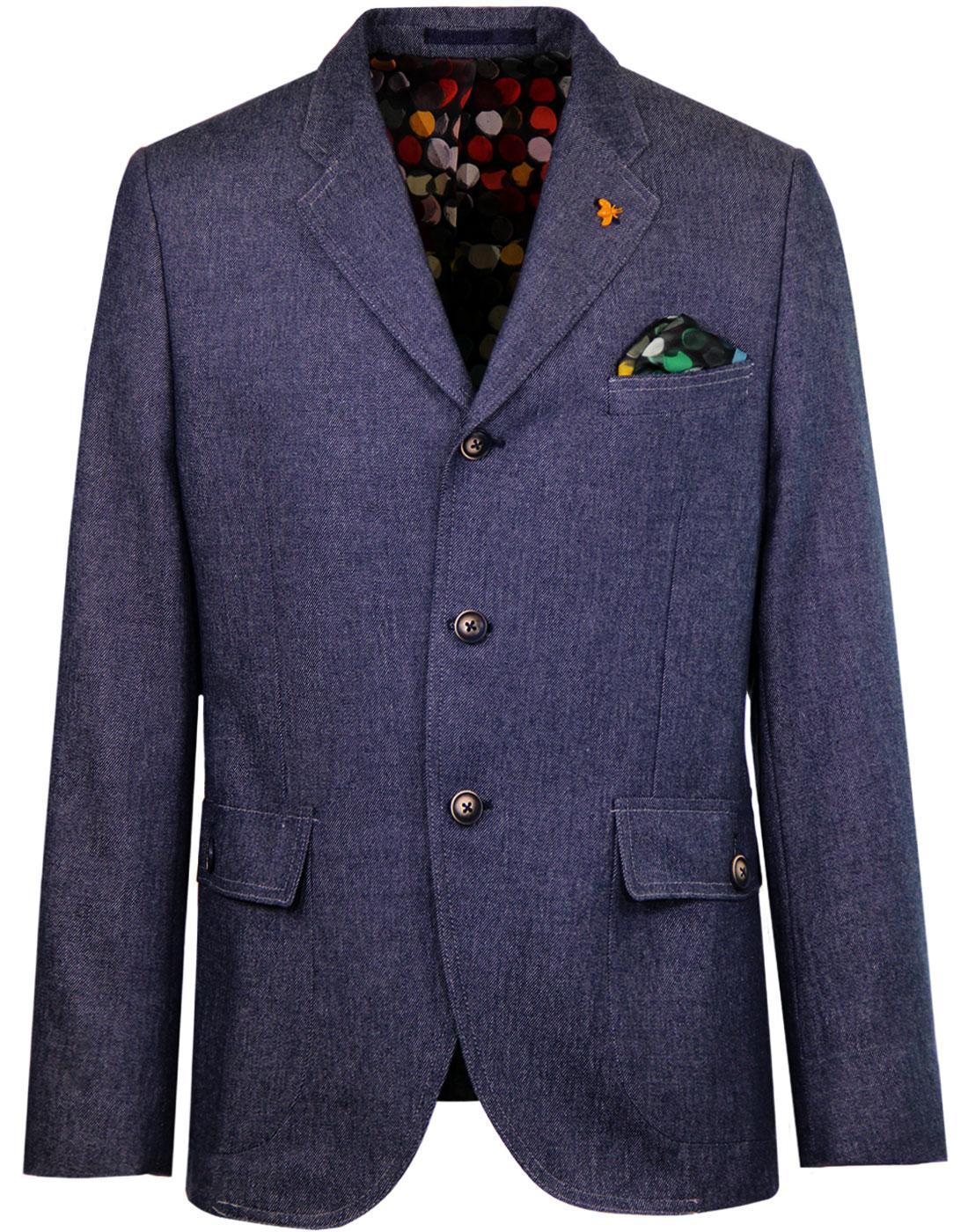 Grouse GIBSON LONDON Oxford Twill 3 Button Blazer