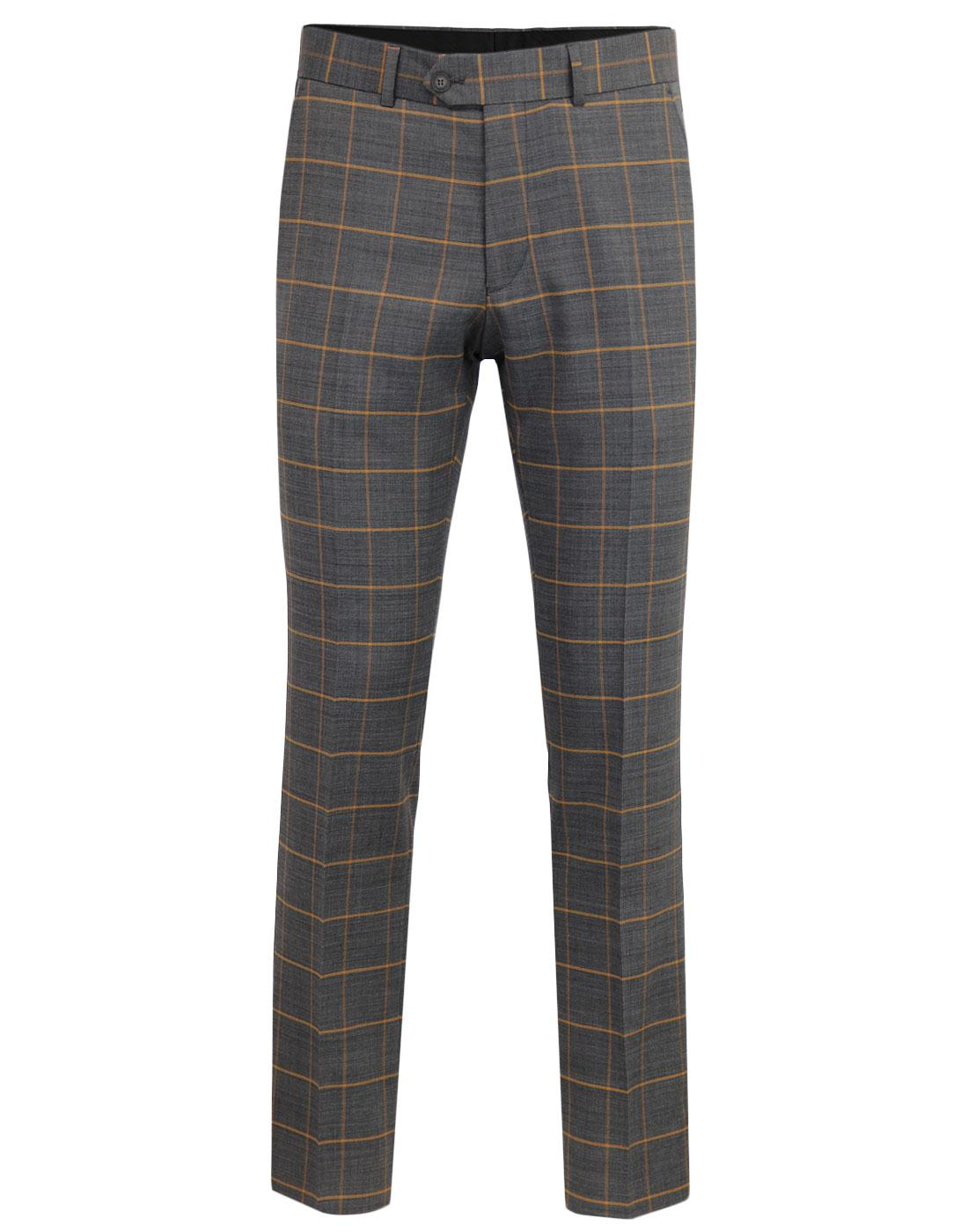 Marriott GIBSON LONDON Windowpane Check Trousers