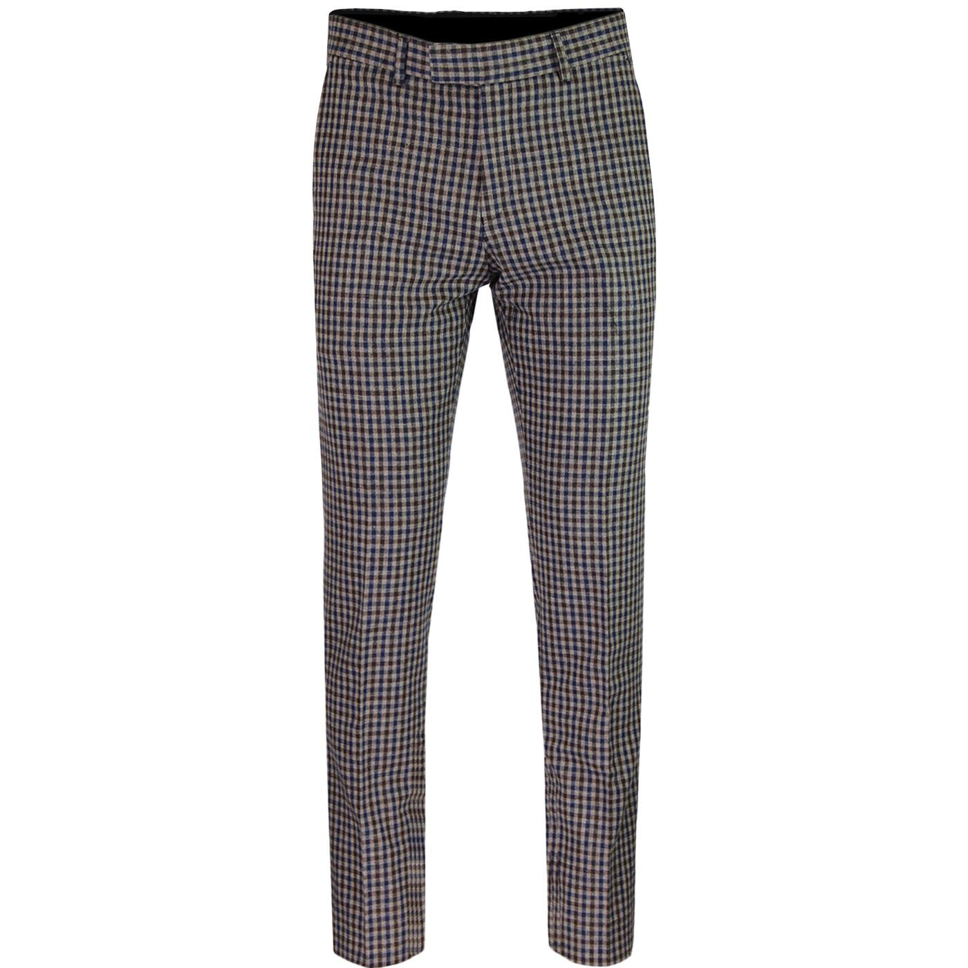 Radisson GIBSON LONDON 60s Mod Check Suit Trousers