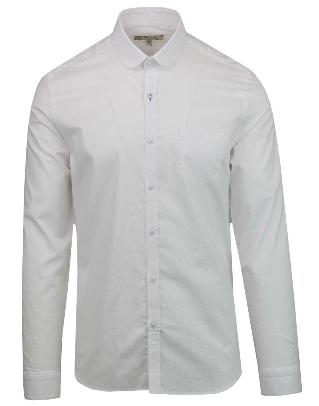 GIBSON LONDON 60s Mod Penny Round Collar Shirt (W)