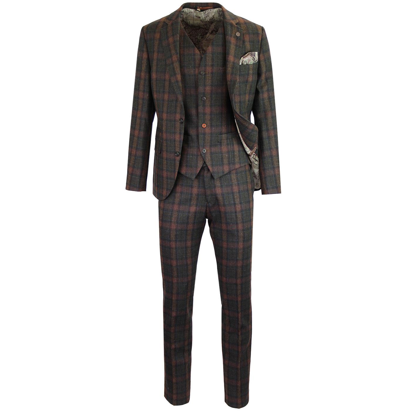 GIBSON LONDON Mod Tartan Check 2 or 3 Piece Suit
