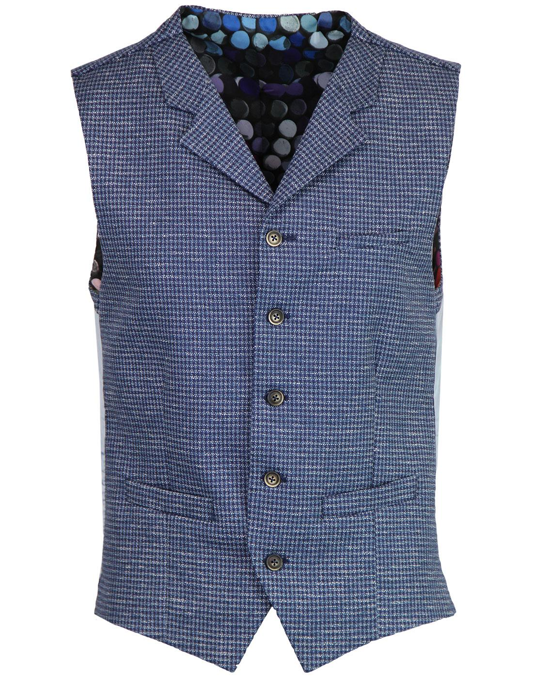 Tyburn GIBSON LONDON Dogtooth Seersucker Waistcoat