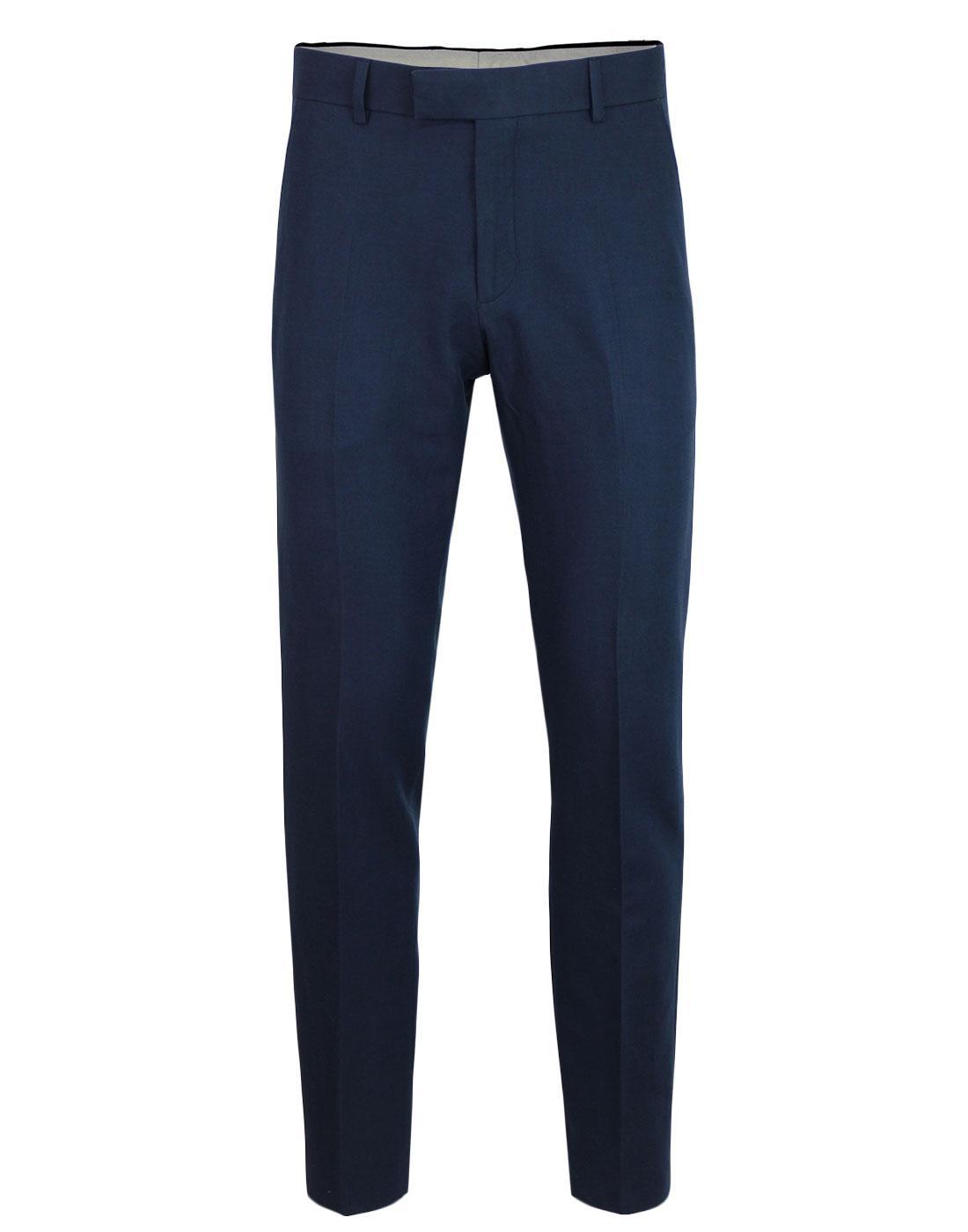 Radisson GIBSON LONDON Smart Plain Trousers NAVY