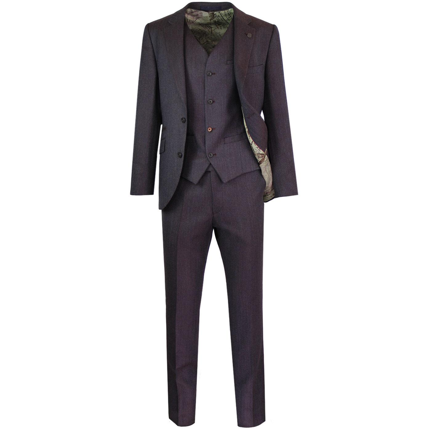Towergate GIBSON LONDON Herringbone Tonic Mod Suit