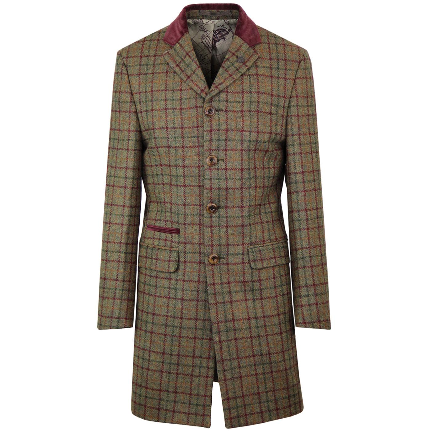 Winnie GIBSON LONDON Cord Collar Check Dress Coat