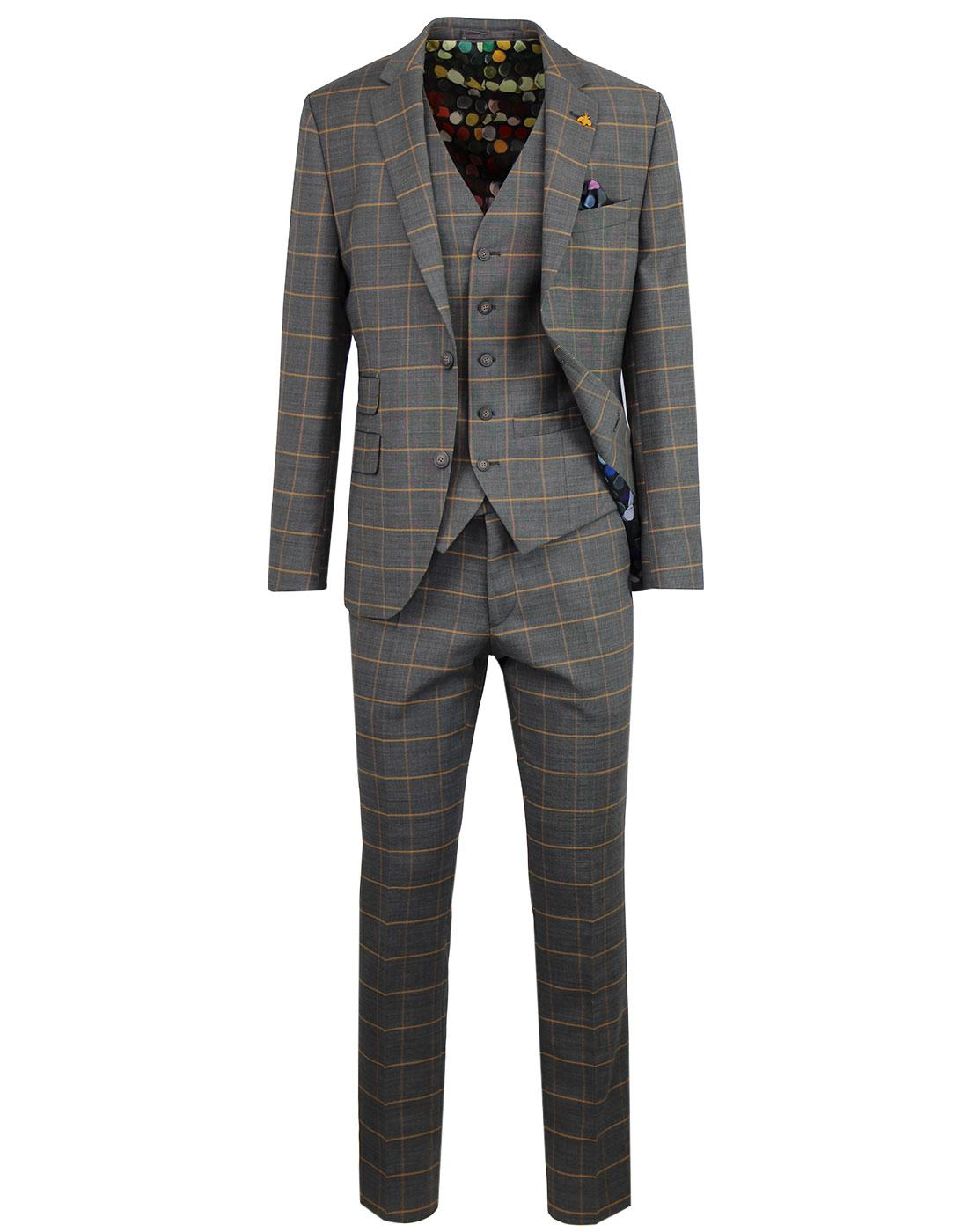 GIBSON LONDON Marriott Mod Windowpane Check Suit
