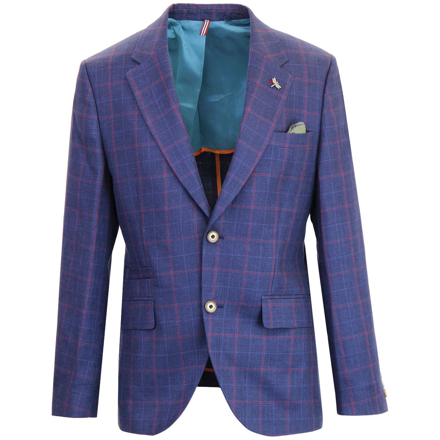 Greenwich GIBSON LONDON 60s Mod Check Linen Blazer