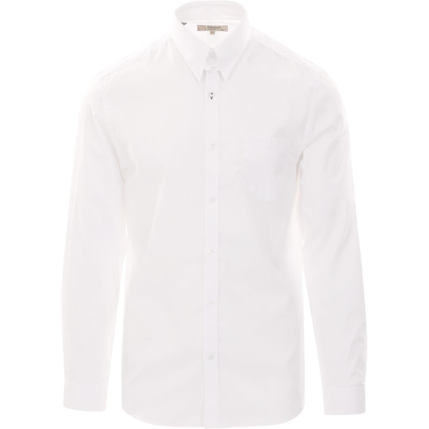 GIBSON LONDON Mod Smart Oxford Tab Collar Shirt