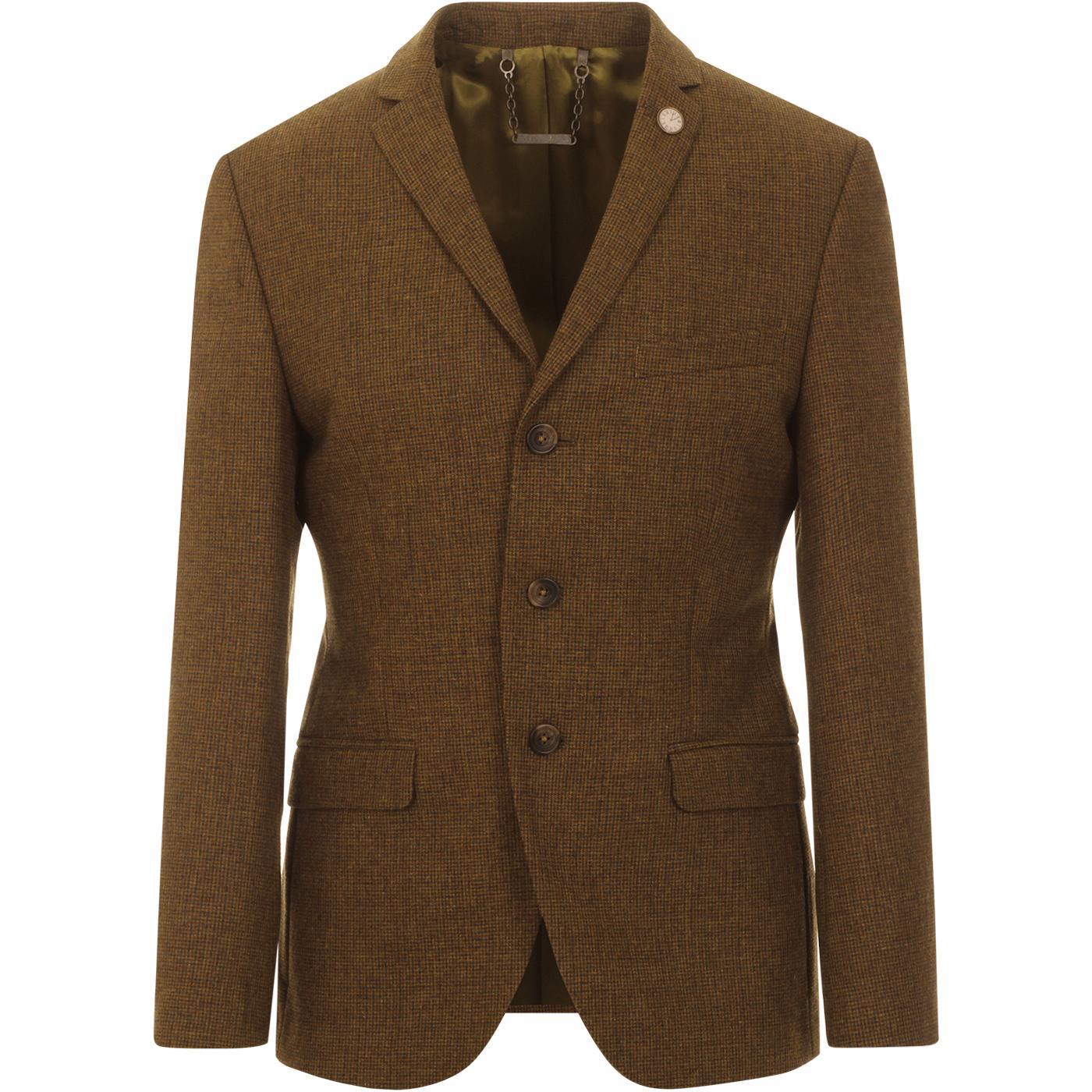 GIBSON LONDON Mod Puppytooth 3 Button Suit Blazer
