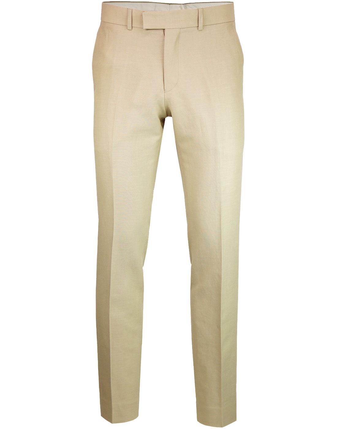 Radisson GIBSON LONDON Smart Plain Trousers STONE