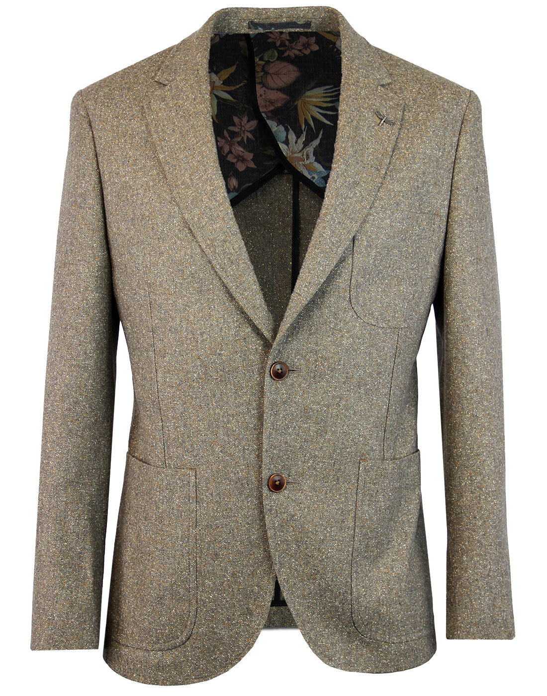 GIBSON LONDON 2 Button Sand Donegal Suit Jacket