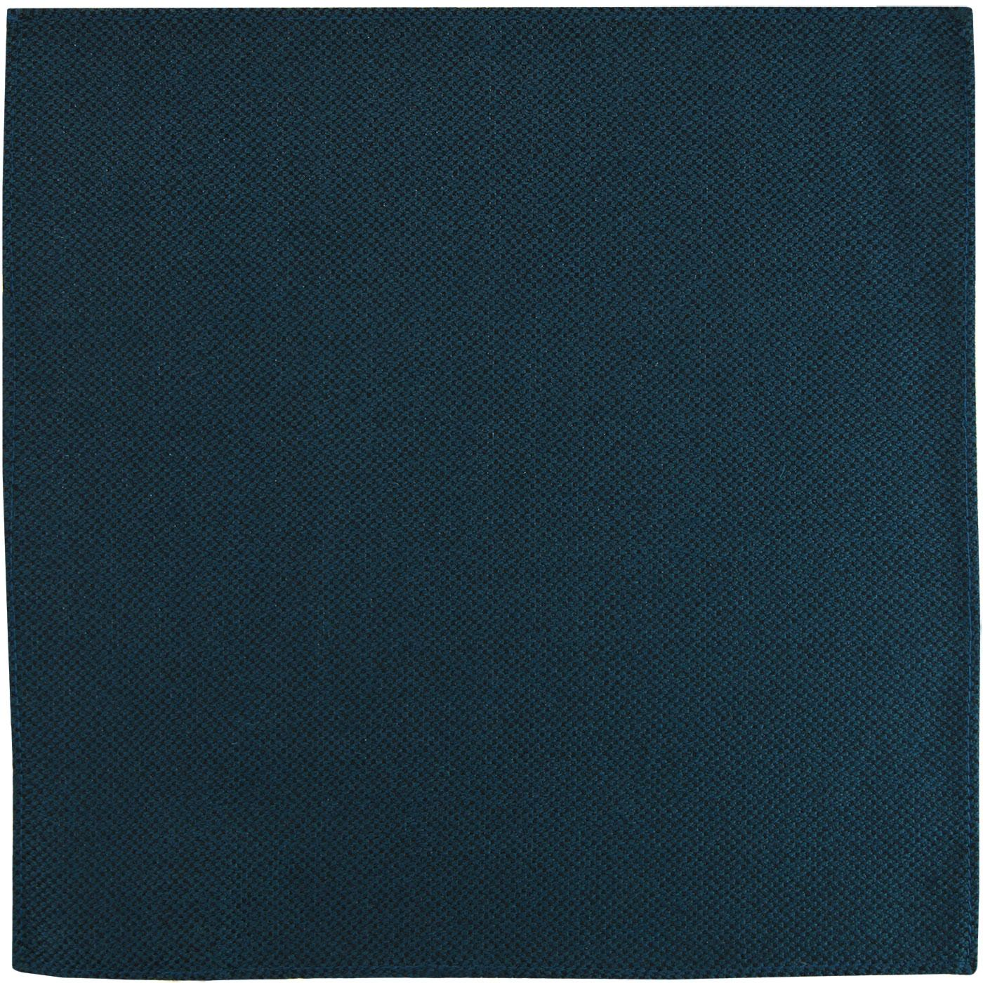 GIBSON LONDON Mod Woven Pocket Square in Teal