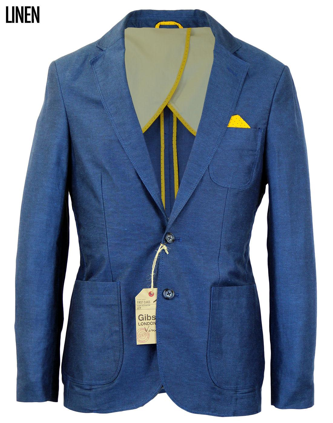 Ludgate GIBSON LONDON Retro Tailored Linen Blazer
