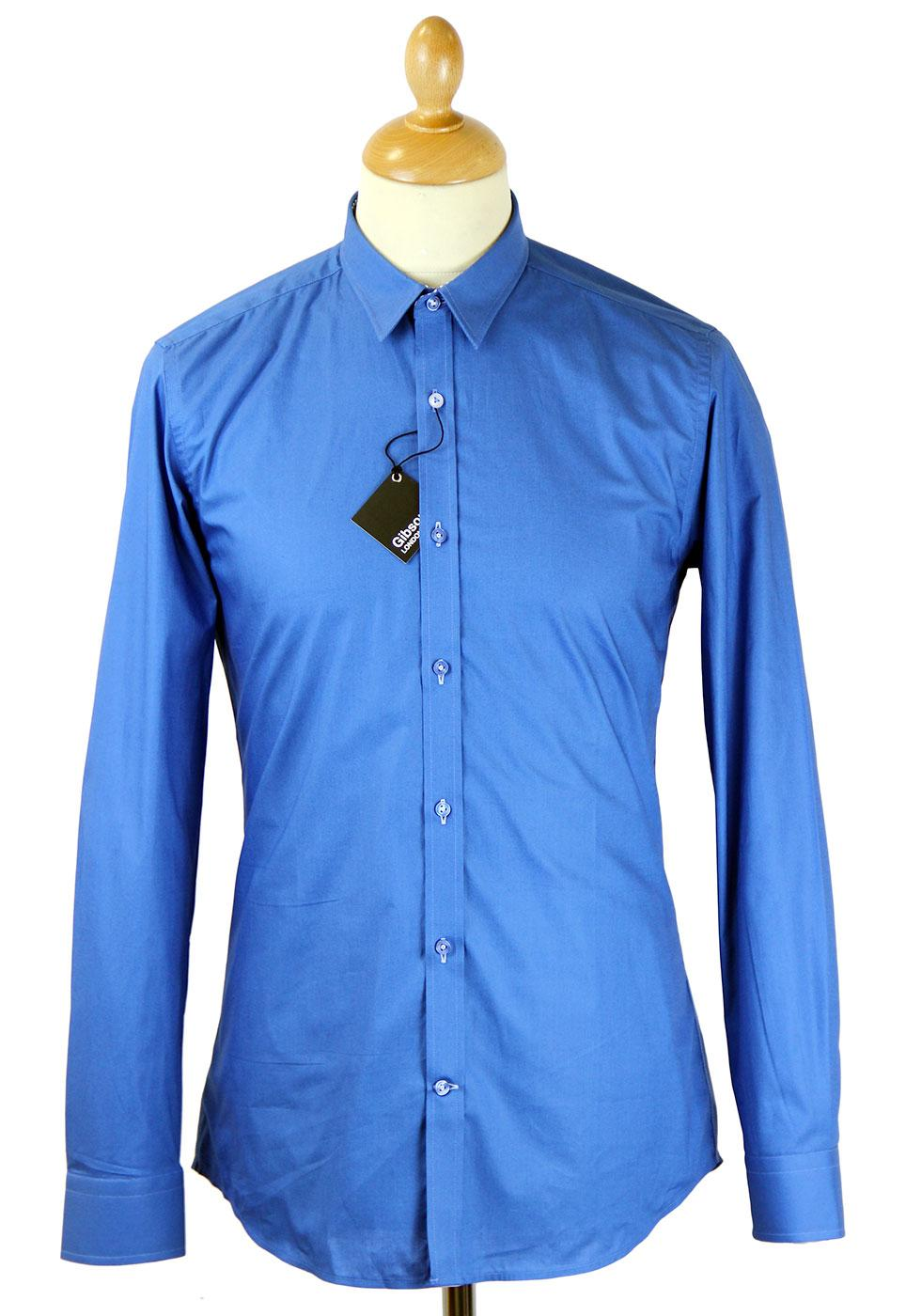 GIBSON LONDON Mod Point Collar Smart Poplin Shirt