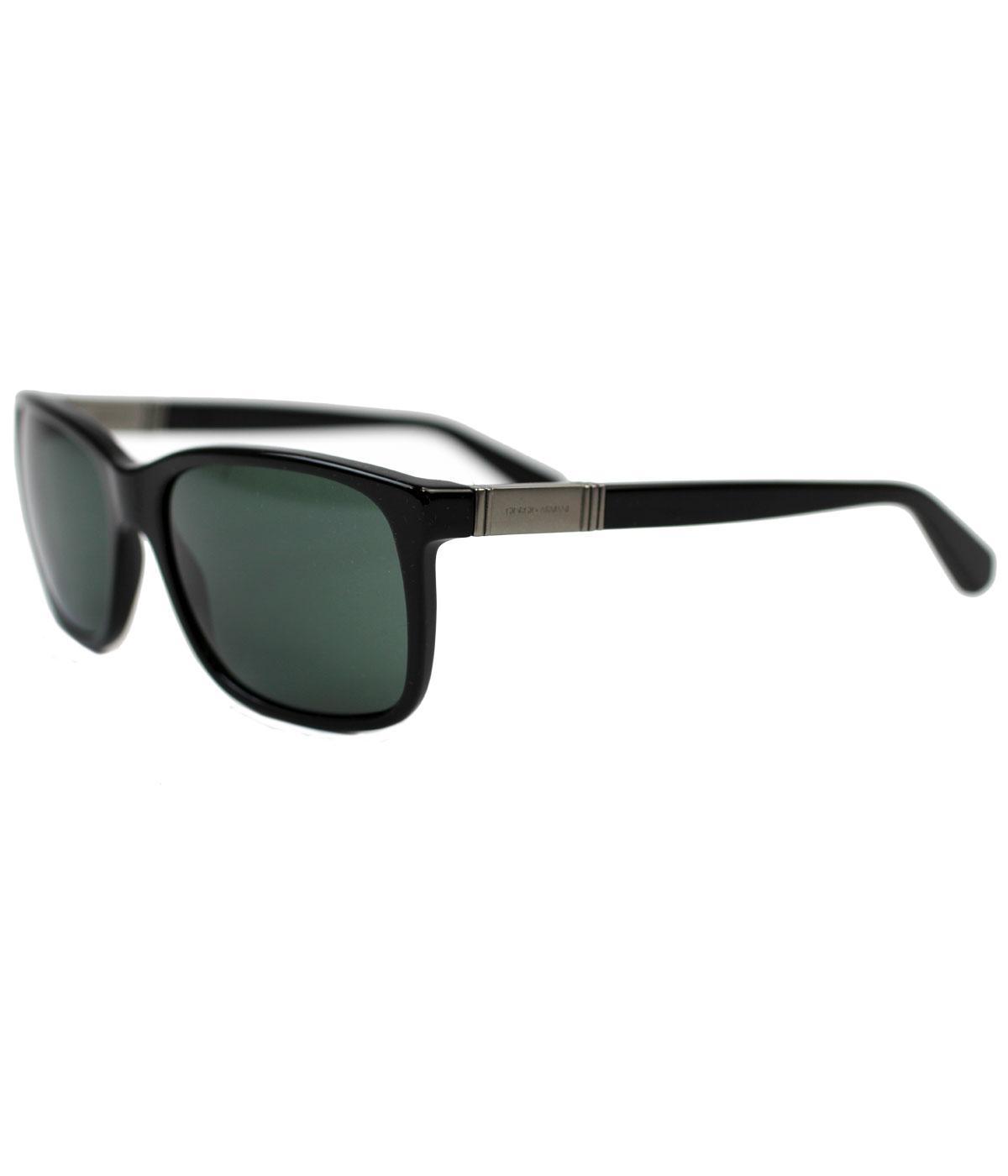 6e9d21922 Giorgio Armani Retro Mod Wayfarer Sunglasses in Black 0AR8016