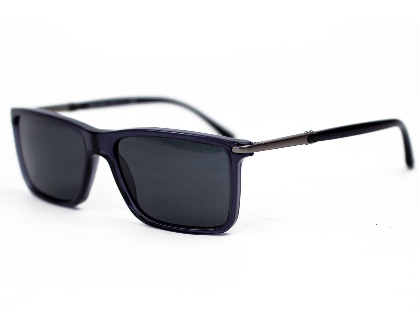 f2986639e Giorgio Armani Retro Mod Wayfarer Sunglasses in Dark Grey 0AR8010