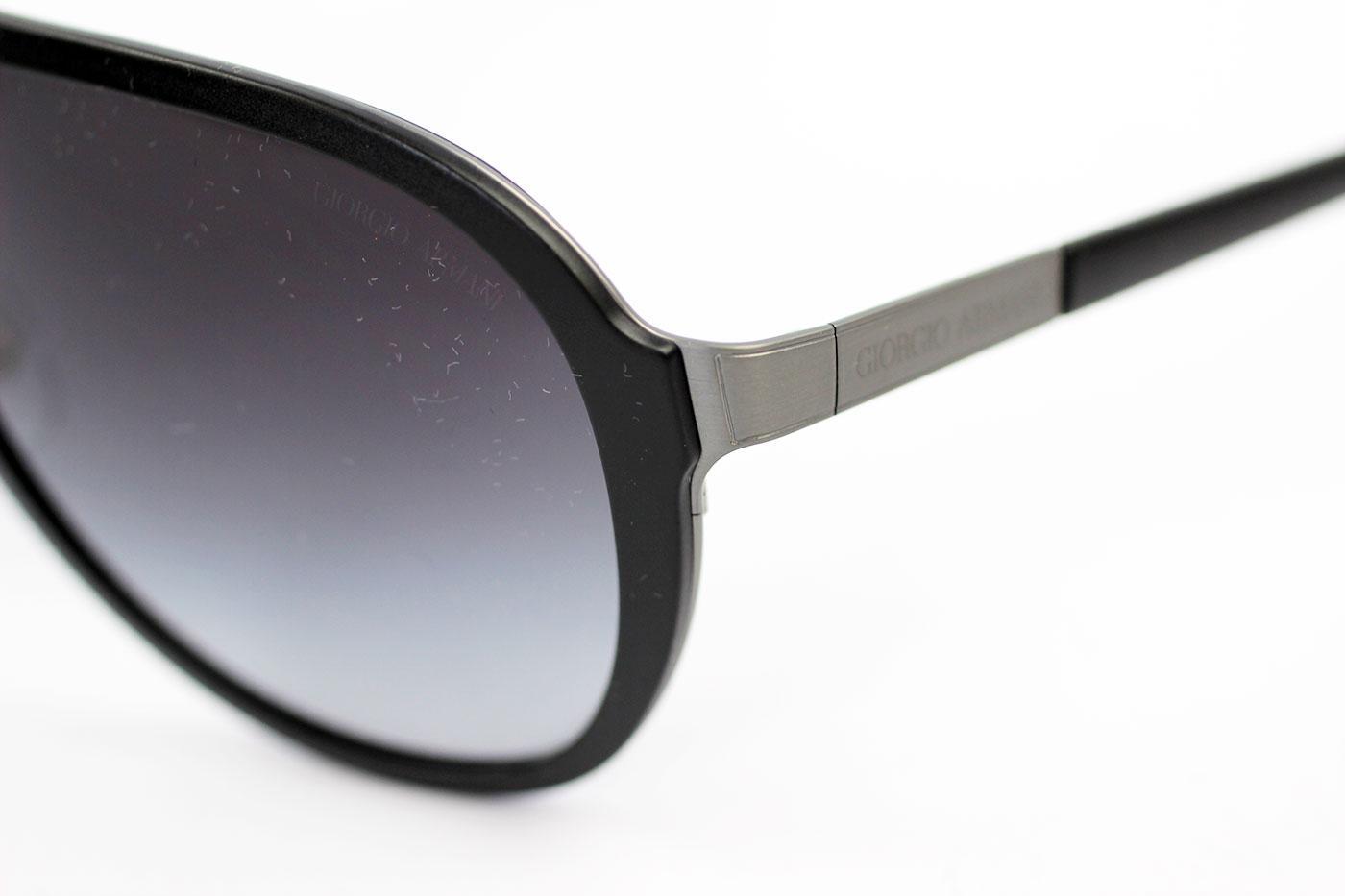 329e2ea8b395 Giorgio Armani Retro Mod Matte Gunmetal Pilot Sunglasses