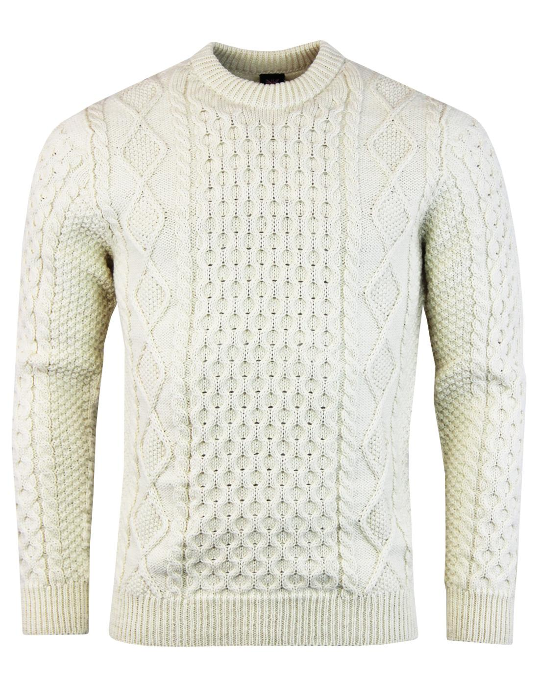 Aran GLOVERALL Made in England Cable Knit Jumper E