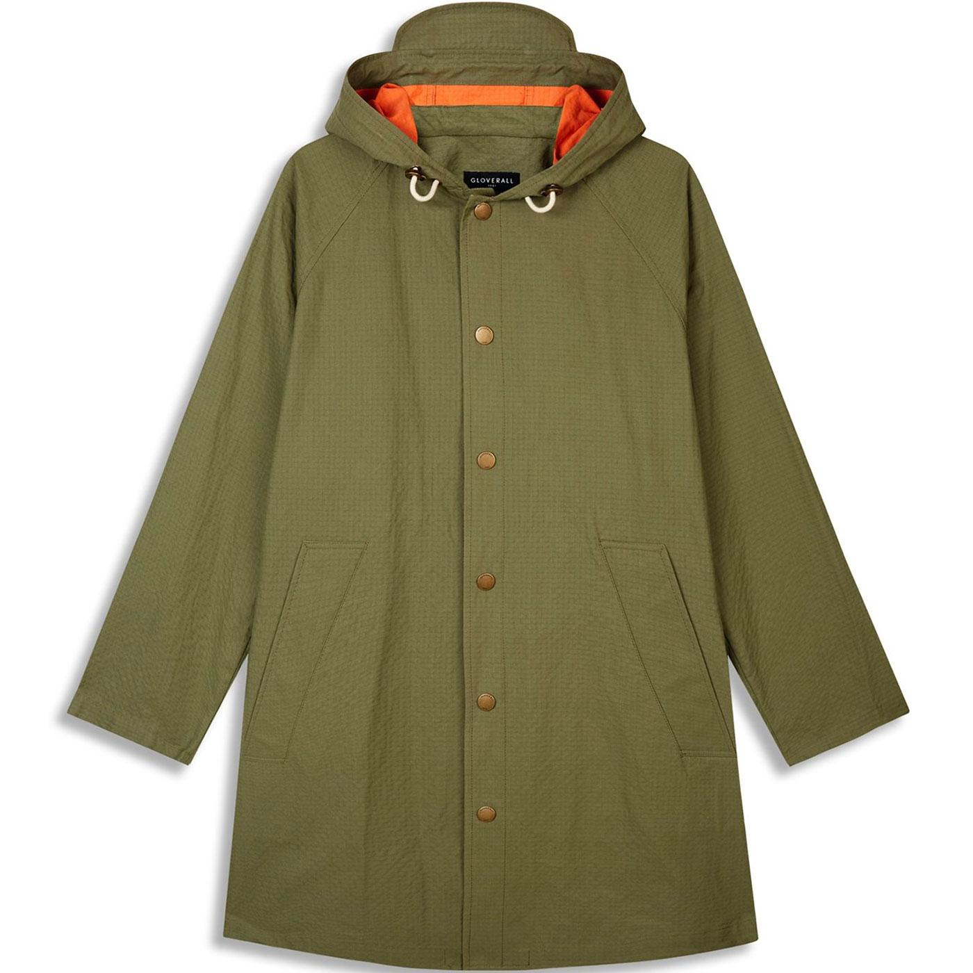 Billie GLOVERALL 60s Mod Resin Coated Parka KHAKI