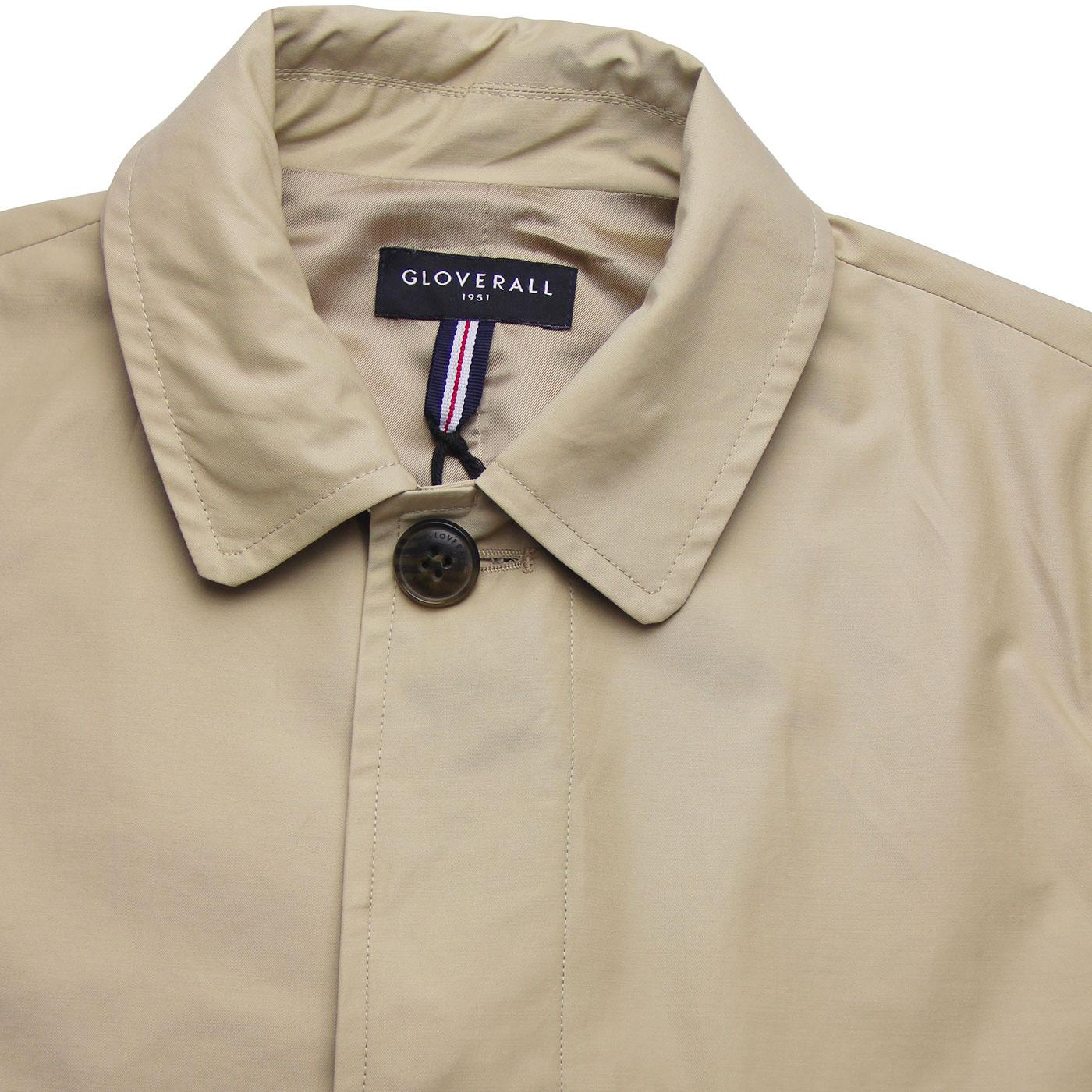 GLOVERALL Mansell Mod Made in England Car Coat in Stone