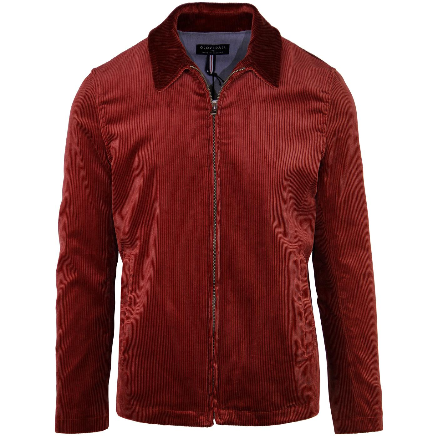 Musso GLOVERALL Retro Mod Cord Harrington (RUST)