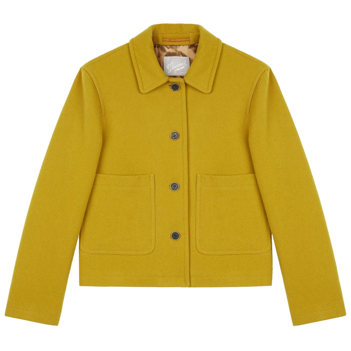 Daisy GLOVERALL Womens Retro Cropped Wool Jacket