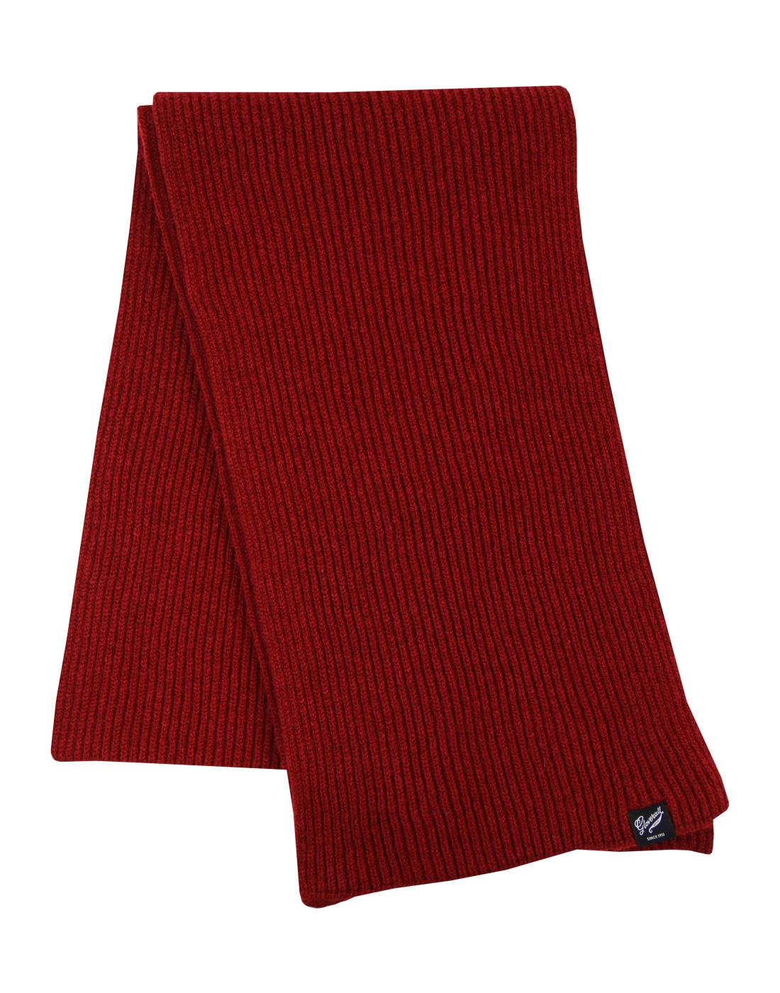 GLOVERALL Retro Ribbed Knit Fishermans Scarf (Bu)