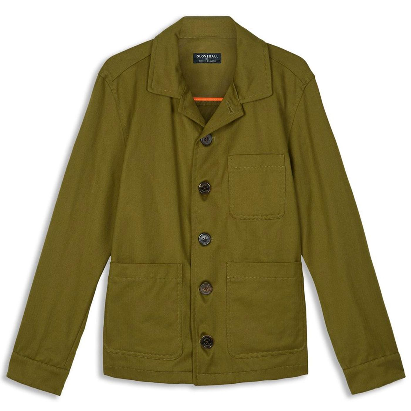 Harry GLOVERALL Retro Made in England Work Jacket