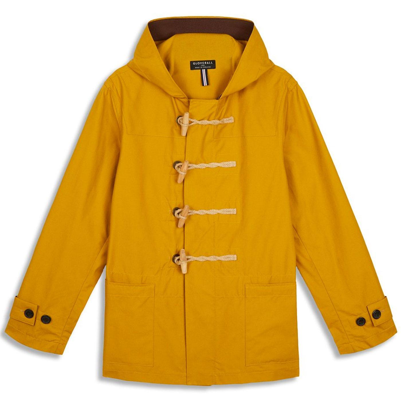 Mid Monty GLOVERALL Mod Summer Duffle Coat MUSTARD