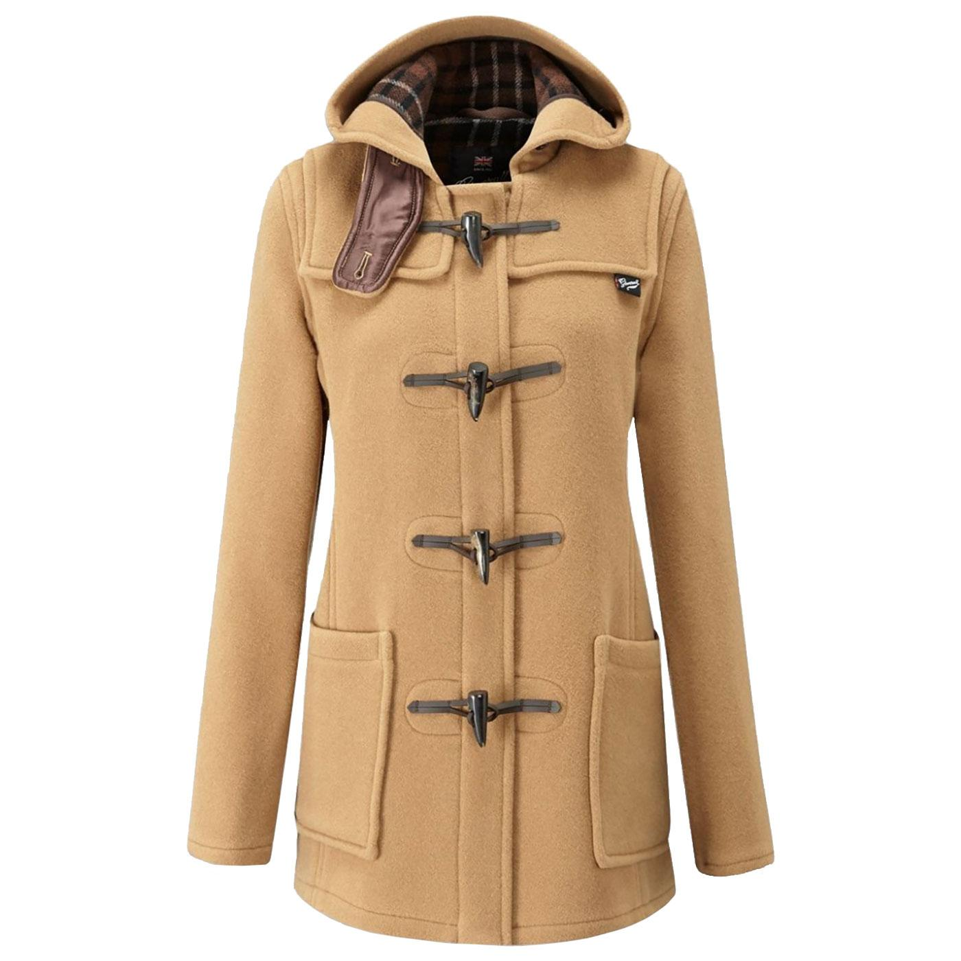 GLOVERALL Women's Retro Fitted Short Duffle Coat C